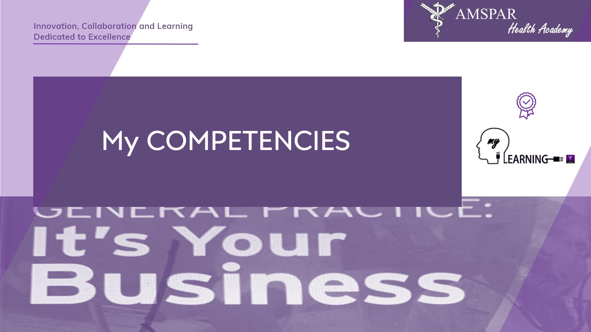 AMSPAR - My Competencies